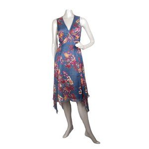 Walter Baker Asymmetrical Blue Floral Dress NEW 2
